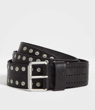 AllSaints Dice Stud Leather Belt