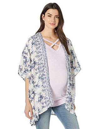 Jessica Simpson Women's Maternity 3/4 Sleeve High/Low Hem Bed Jacket