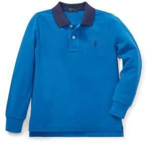 Ralph Lauren Little Boy's Cotton Long-Sleeve Polo
