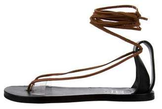 Acne Studios PVC-Trimmed Leather Sandals