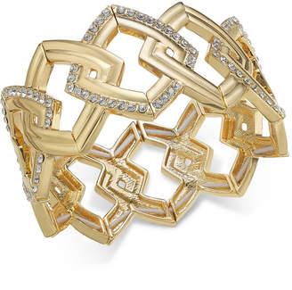 INC International Concepts I.n.c. Gold-Tone Pave Link Stretch Bracelet
