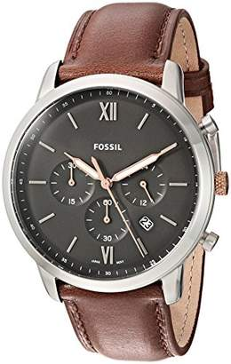 Fossil Men's 'Neutra' Quartz Stainless Steel and Leather Casual Watch