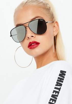 Missguided Quay Australia Black High Key Mini Sunglasses