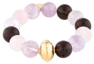 Devon Leigh Rose Quartz, Smoky Quartz & Amethyst Bead Bracelet