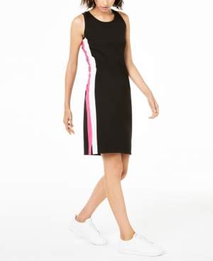 Bar III Varsity-Stripe Sheath Dress, Created for Macy's