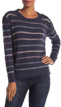 Susina Stripe Knit Boucle Sweater (Petite)