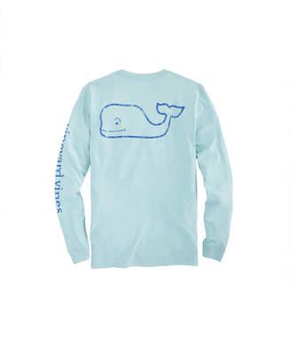 Vineyard Vines Long-Sleeve Heathered Vintage Whale Pocket T-Shirt