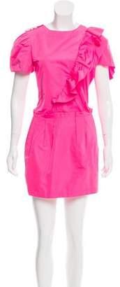 Nina Ricci Ruffle-Accented Mini Dress