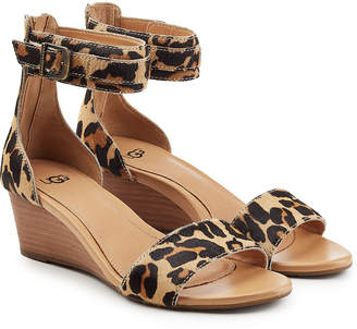 UGG Printed Pony Hair Wedge Sandals