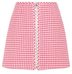 prada Prada Virgin Wool Miniskirt
