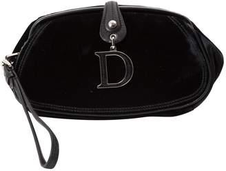 Christian Dior Black Velvet Clutch Bag