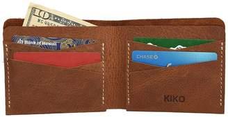 Kiko Leather Buck Cowhide Leather Bifold Wallet