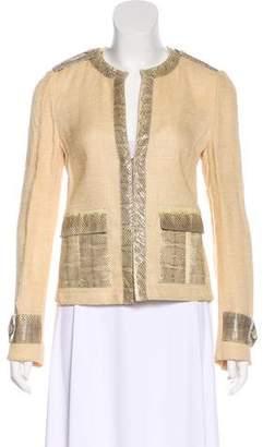 Dolce & Gabbana Snake-Trimmed Woven Jacket