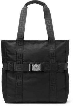 Versace Logo-Detailed Nylon Tote Bag