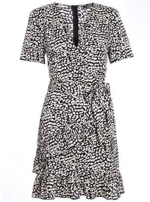 Dorothy Perkins Womens *Quiz Black and White Wrap Dress
