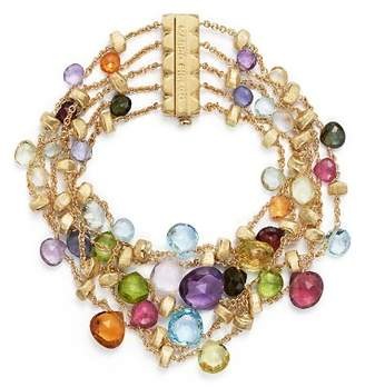 Marco Bicego 18K Yellow Gold Paradise Five Strand Mixed Stone Bracelet