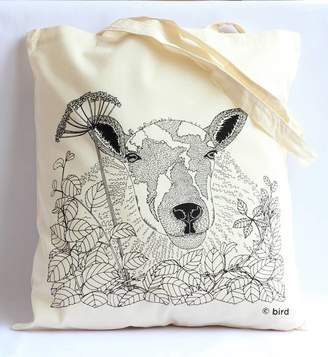 Bird Through The Hedge 'Sheep' Tote Bag