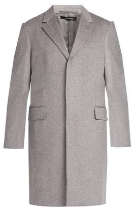 Dunhill - Single Breasted Wool Cashmere Coat - Mens - Light Grey