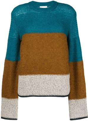 See by Chloe colour block knit jumper