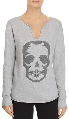 Aqua Skull Embellished Henley - 100% Exclusive
