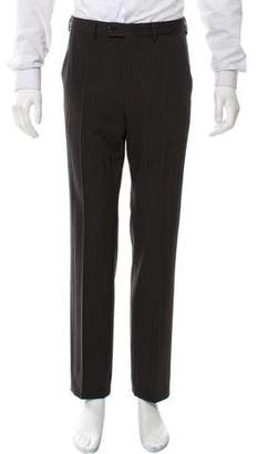 Prada Striped Wool-Blend Pants