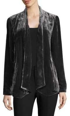 Eileen Fisher Velvet Asymmetric Jacket
