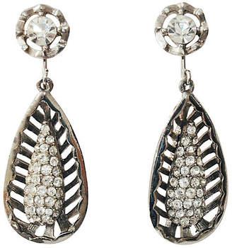 One Kings Lane Vintage Teardrop Cage Earrings - Maeven