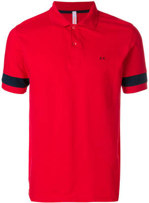 Sun 68 stripe sleeve polo shirt