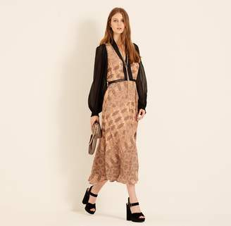 Amanda Wakeley Copper Printed Paisley Midi Dress