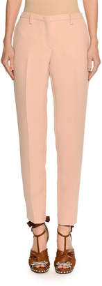 No.21 No. 21 Mid-Rise Skinny Crepe Trousers
