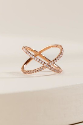 francesca's Lola Cubic Zirconia Ring in Rose Gold - Rose/Gold
