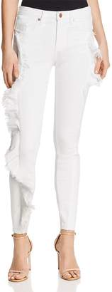 Blank NYC Blanknyc Ruffled Skinny Jeans in White - 100% Exclusive