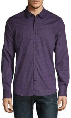 John Varvatos Dotted Cotton Button-Down Shirt