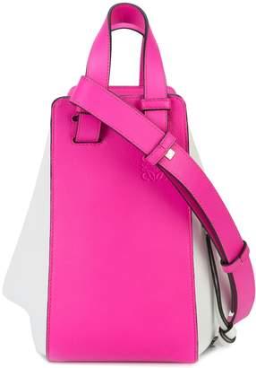 Loewe Hammock Small Two-Tone Leather Shoulder Bag