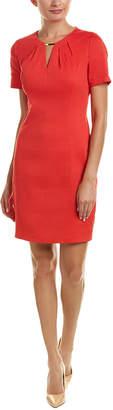 Elie Tahari Linen-Blend Sheath Dress