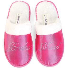 CrystalsRus Varsany Luxury Pink Close Toe Crystal Spa Slippers Hen Party Honeymoon Bride Gifts