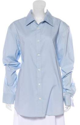 Calvin Klein Collection Long Sleeve Button-Up Top w/ Tags