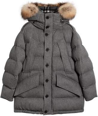 Burberry detachable hood parka
