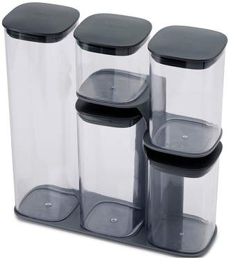 Joseph Joseph Podium 5-Piece Storage Jar Set With Stand