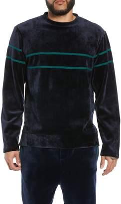 NATIVE YOUTH Stripe Velour Sweatshirt