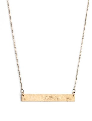 Women's Nashelle 14K-Gold Fill Stamped Bar Pendant Necklace $65 thestylecure.com