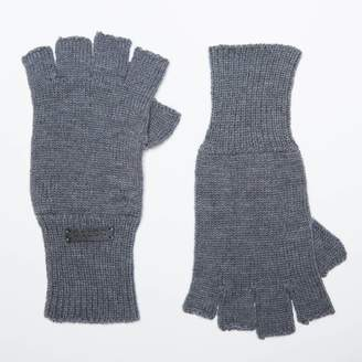 DSTLD Cashmere Blend Fingerless Gloves in Grey