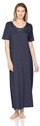 Hanro Women's Jasmin Short Sleeve Long Gown