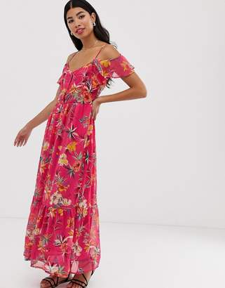 Pimkie floral maxi dress in pink