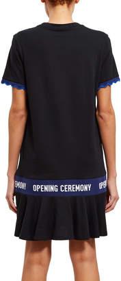 Opening Ceremony Scallop OC Elastic Logo T-Shirt Dress