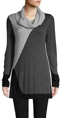 Context Colorblock Cowlneck Sweater