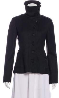 Burberry Wool Mock Neck Jacket