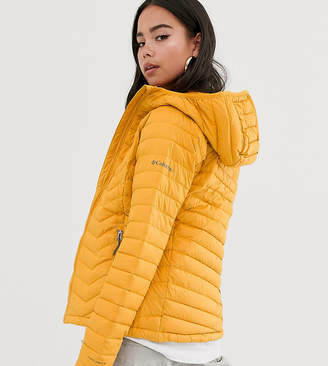 Columbia Powder Lite hooded jacket in yellow