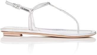 Prada Women's Kidskin Thong Sandals