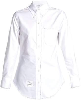 Thom Browne Frayed-edge cotton shirt